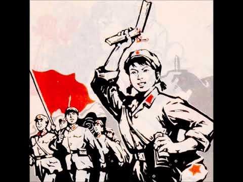 草原上的红卫兵见到了毛主 - The Red Guards Greet Mao on the Steppe