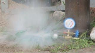 Botella de Vidrio Estalla por Presion. PELIGRO !!! / Glass Bottle Explode by pressure. DANGER !!!