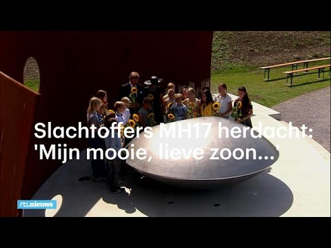 MH17-monument geopend, slachtoffers herdacht