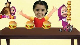İlkim Haydi Oldu Maşa İlkimin Hamburgerlerini Çaldı'mı? Çizgi Film Tadında