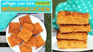 So einfach kannst du einen saftigen Low Carb Möhrenkuchen, Rüblikuchen bzw. Karottenkuchen backen
