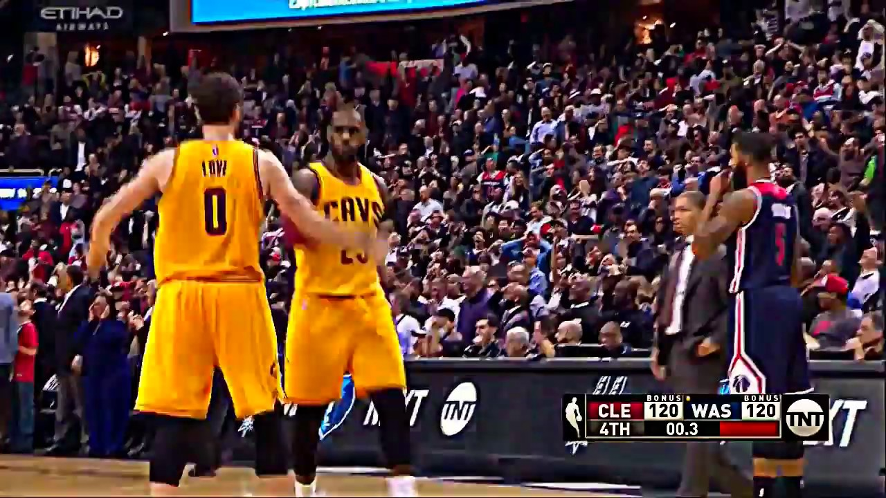 1b36bf83af22 LEBRON JAMES IMPOSSIBLE GAME TYING BUZZER BEATER fade away winning shot vs  wizards