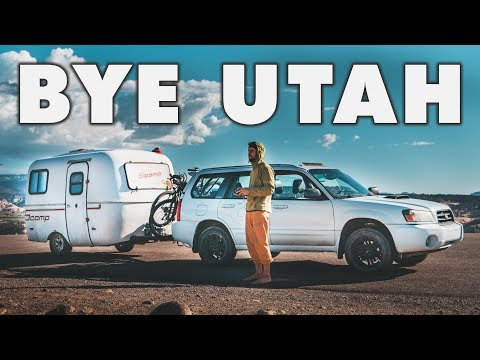 BYE UTAH – Dog's Health Update // 13ft Scamp Trailer