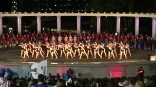 Razorback Pom- Beat BAMA pep rally 10/7/16