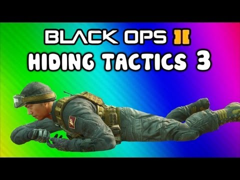Black Ops 2 Funny Hiding Tactics Challenge 3 - Fails & Funny Moments (POD & Takeoff Maps)