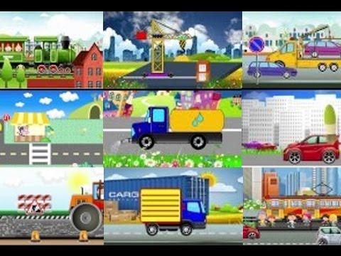 Раскрашки-анимашки. 11-20 серии. Развивающий мультик про машинки / Coloring cars cartoon. Наше все!