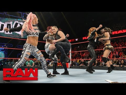 Becky Lynch and Ronda Rousey brawl with The Riott Squad after Raw: Raw Exclusive, Feb. 11, 2019 Mp3