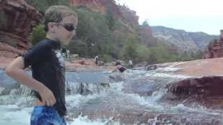 Slide Rock & Cliff jump, Sedona Arizona with underwater camera