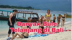 Banyak Bule Telanjang di Pantai Batu Bolong - TEMPAT WISATA BALI INDONESIA