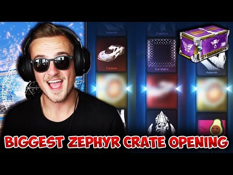 WHAT A WAY TO START!   Opening 25 BRAND NEW Zephyr Crates In Rocket League! [This Crate Is INSANE!] thumbnail