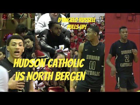 Hudson Catholic vs North Bergen 2nd Half Highlights!! D'Angelo Russell Watches Luther, Louis  & JQ!