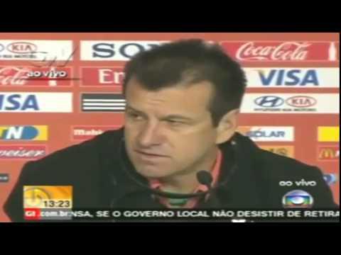 Brazil vs Peru 2-1 Copa America 14/06/2015 Dunga interview  Conference