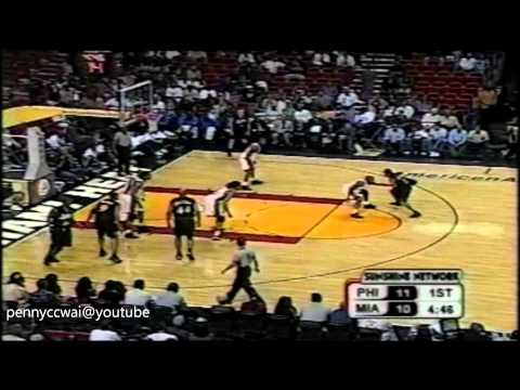 Allen Iverson fakes Anthony Carter out of the court!!!!