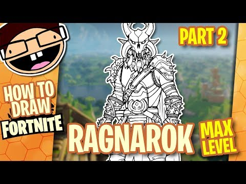 How to Draw MAX LEVEL RAGNAROK (Fortnite) Part 2 of 2 | Narrated Easy Step-by-Step Tutorial