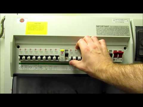 resetting your residual current device (rcd) on your consumer unit