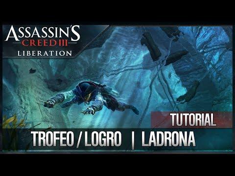 Assassin's Creed 3 Liberation HD | Trofeo / Logro Ladrona (Cómo hurtar 5000 escudos fácilmente)