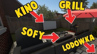 KINO W OGRODZIE! - House Flipper (Garden Flipper DLC)