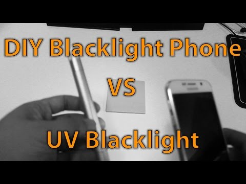 DIY Blacklight Phone Mod vs Real UV Blacklight!!