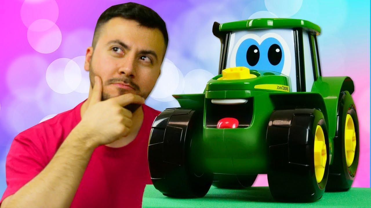 Oyuncak arabalar. Oyuncak traktör babasını kaybetmiş. Eğitici çocuk videosu