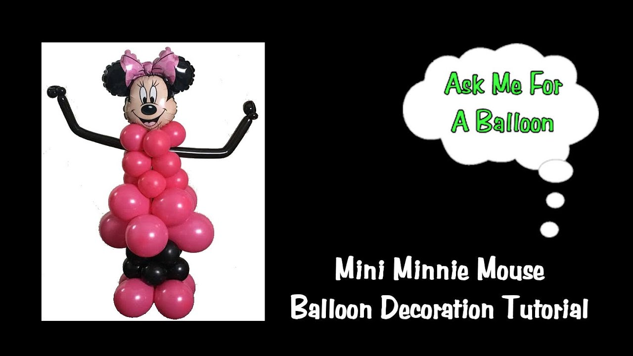 Table Top Minnie Mouse Balloon Decoration Tutorial Youtube