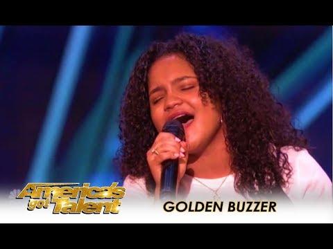 Amanda Mena: Mel B Sends A GOLDEN BUZZER Message To All Bullies! | America's Got Talent 2018