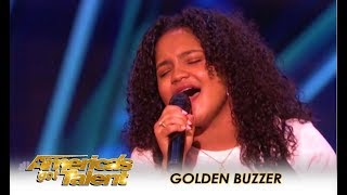 Amanda Mena: Mel B Sends A GOLDEN BUZZER Message To All Bullies! | America