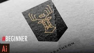 Create Line Art Logo: Part 1 (Deer)    Illustrator Tutorial