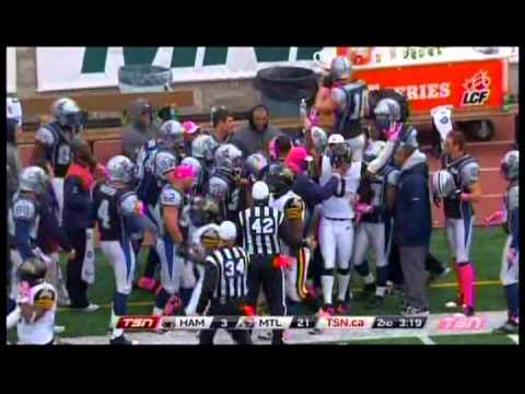 Bo Bowling KR WR #0 Montreal Alouettes Oct 20  2013   Presented by Centre 68