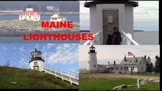 Maine LIGHTHOUSES Marshall Point Owls Head  Egg Rock  Pemaquid Point