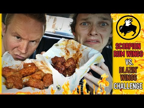 Scorpion Rum vs. Blazin Hot Wings Challenge from Buffalo Wild Wings | Number Six With Cheese