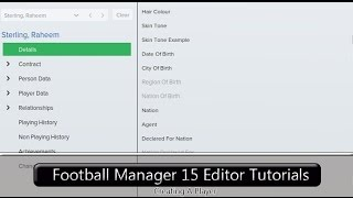 Football Manager 2015 Editor Tutorials: Creating A Player