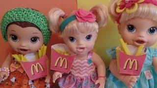 Como fazer Batata Frita do MC Donald's para Baby Alive e outras bonecas.