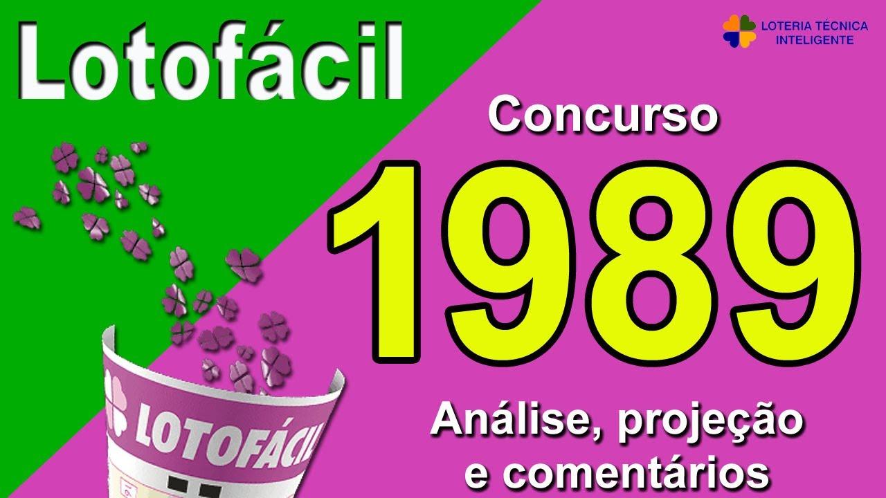 ANÁLISE E PROJEÇÃO PARA O CONCURSO 1989 DA LOTOFÁCIL