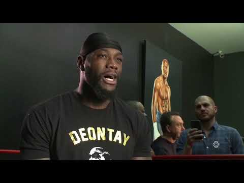 Deontay Wilder Interview & Media Workout