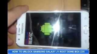 HOW TO UNLOCK SAMSUNG GALAXY J1 ROOT DONE BOX Z3X طريقة فك شفرة