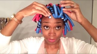 Flexi Rod Set on Natural Hair (Blow Out/Semi-Flat Iron)