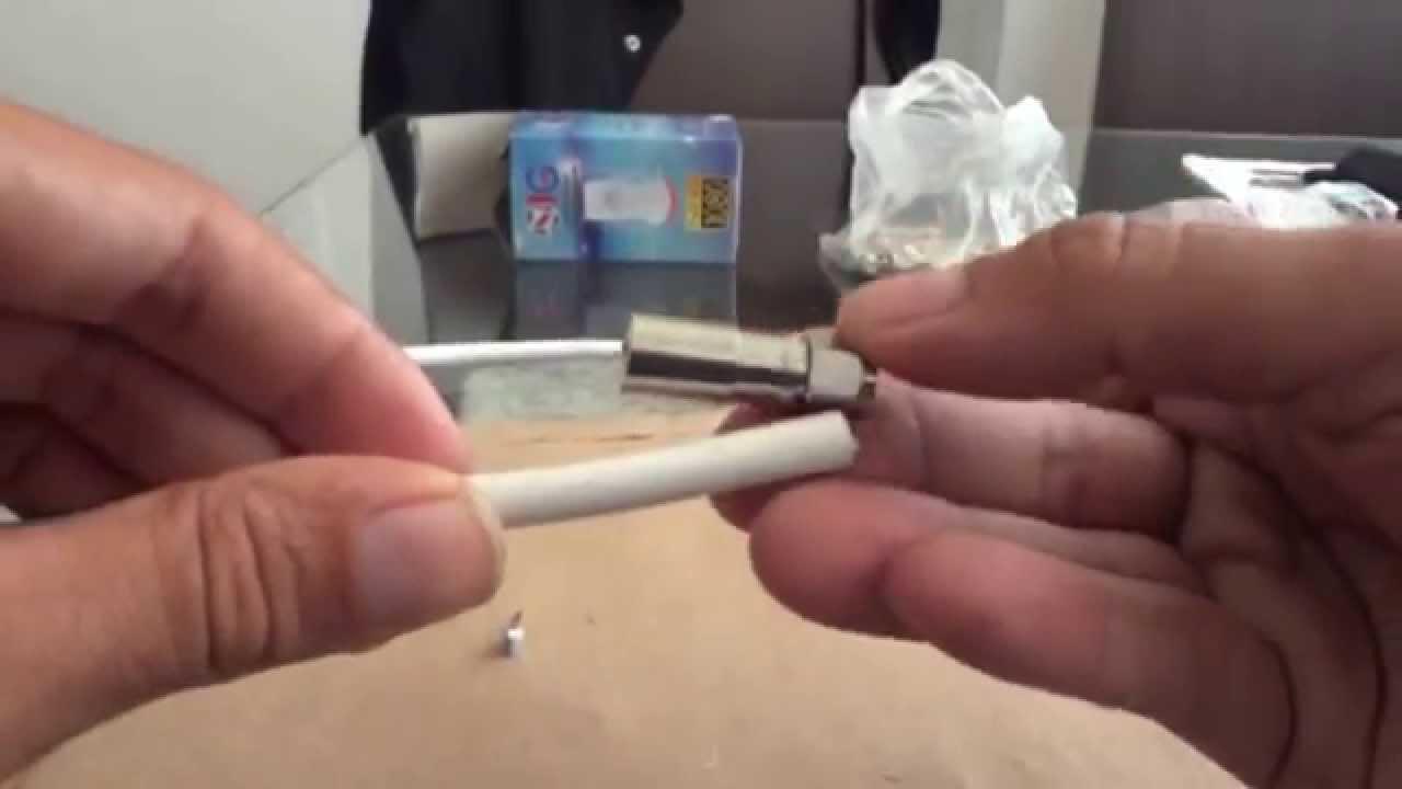 Como Crimpar Conector Coaxial Rg6 Youtube