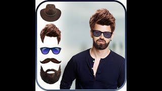 Hairstyle + beard in 5 seconds| photo editing tutorial 2018 | new Android app