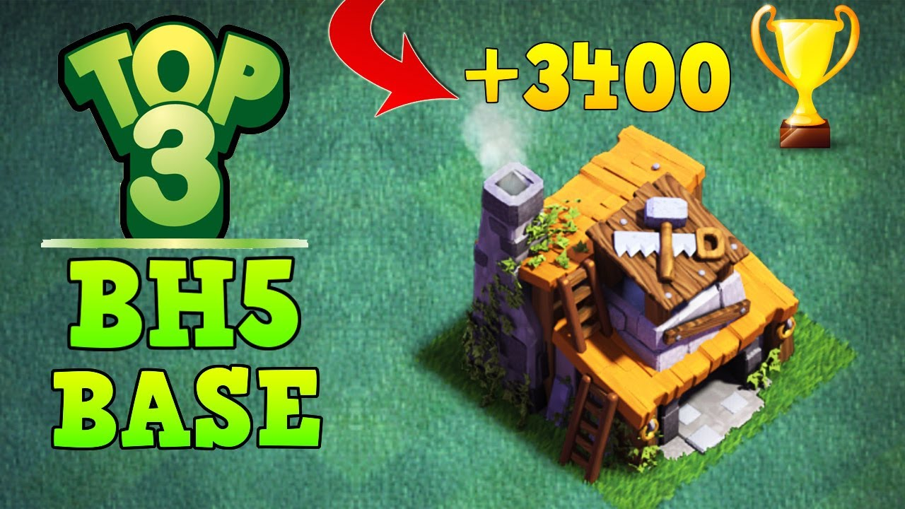 TOP 3 BEST Builder Hall 5 Base +3400 Trophy | CoC BH5 Builder Base Layout |  Clash of Clans