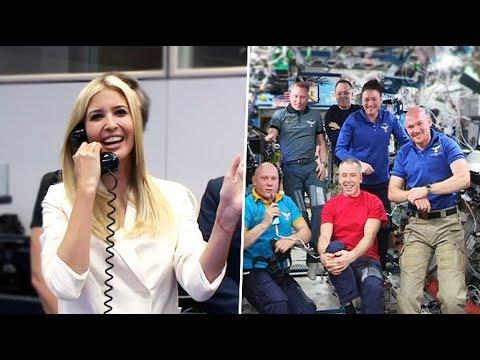 Russian cosmonaut tells Ivanka Trump seeing her causes his mood to improve