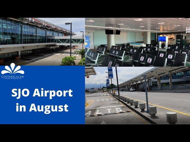 SJO Costa Rica Airport is still empty in August
