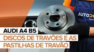 Como mudar Calços de travão AUDI A4 (8D2, B5) - vídeo grátis online