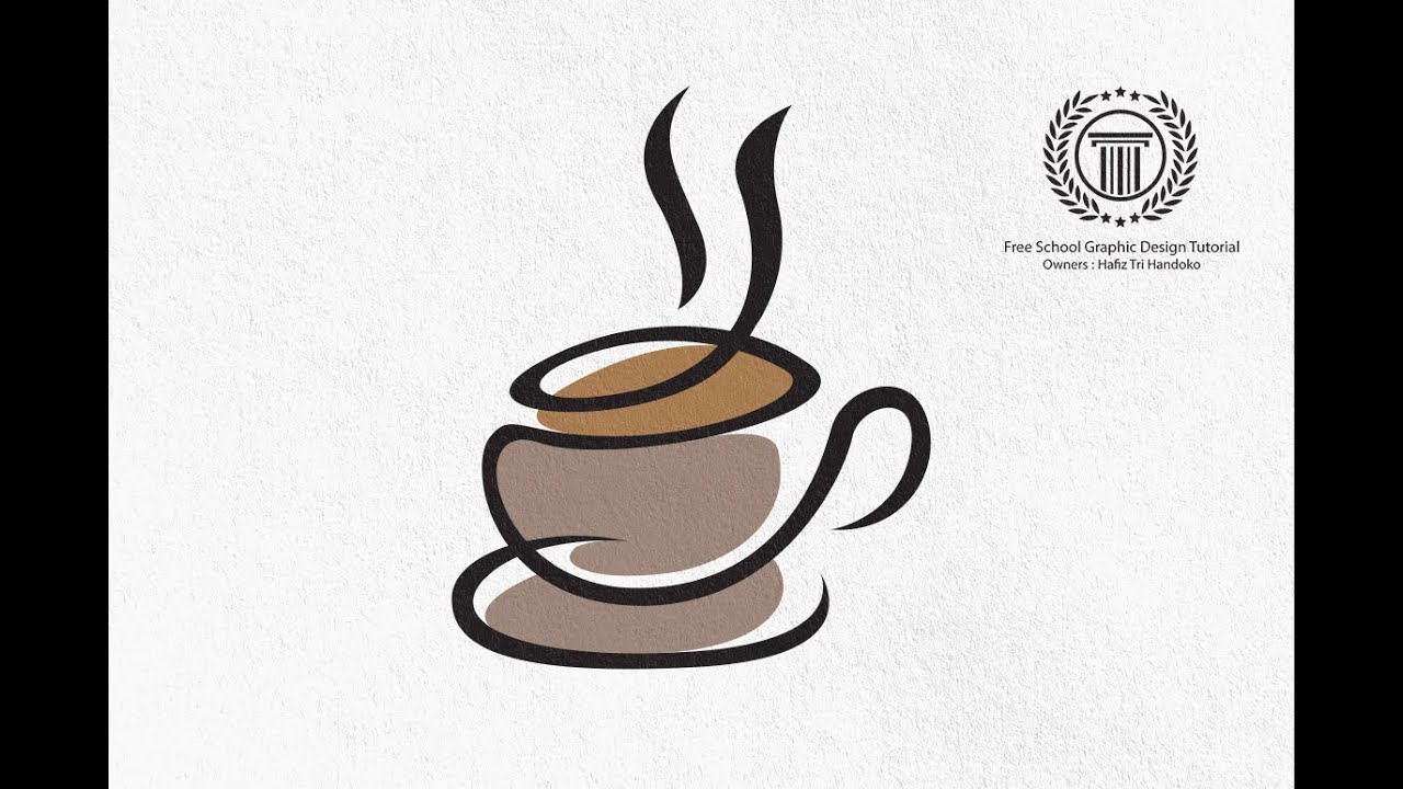 Cup Coffee Logo Design tutorial - How to design a cup cafe coffee ...