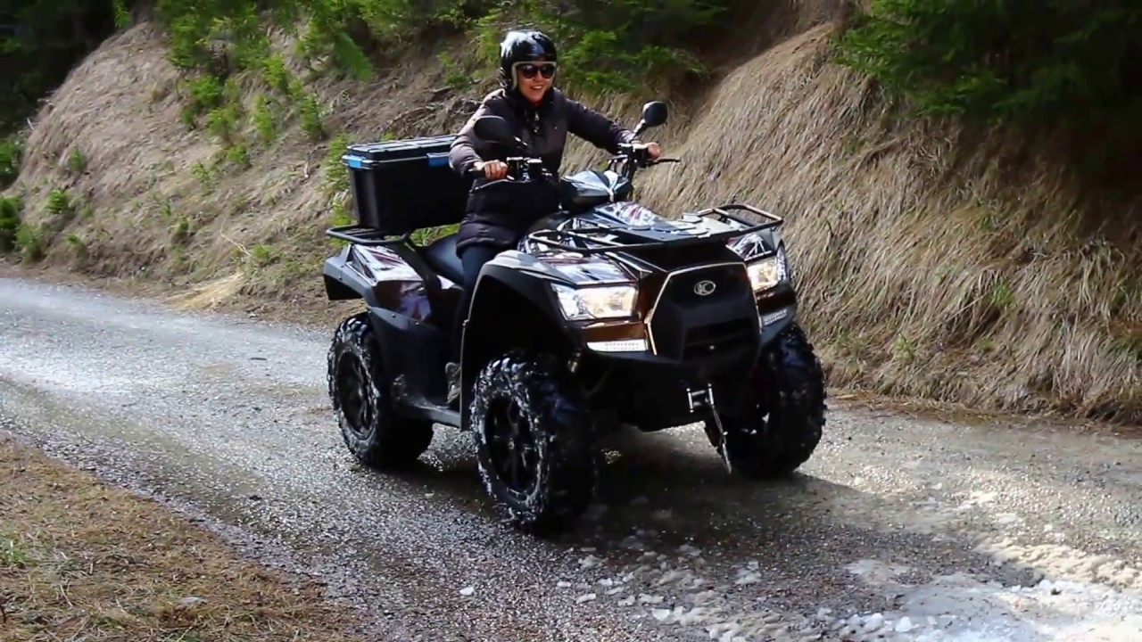 wife in 4x4 mode with atv kymco mxu 700 youtube. Black Bedroom Furniture Sets. Home Design Ideas
