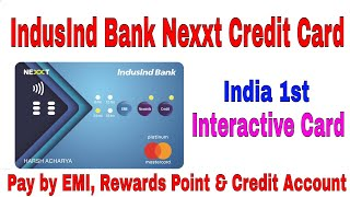 India First Interactive Credit Card with buttons: Pay by EMI 6/9/18/24 or Rewards Point or Credit..