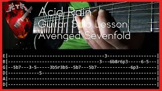 Acid Rain Guitar Solo Lesson - Avenged Sevenfold  (with tabs)