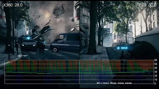Battlefield 3 Xbox 360/PlayStation 3 Frame-Rate Tests