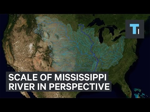 The scale of the Mississippi River in perspective