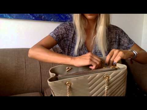 YSL Monogram Shopper Tote bag in beige pt1 la_bonita03 - YouTube