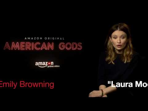 Ricky Whittle & Emily Browning (American Gods) interview